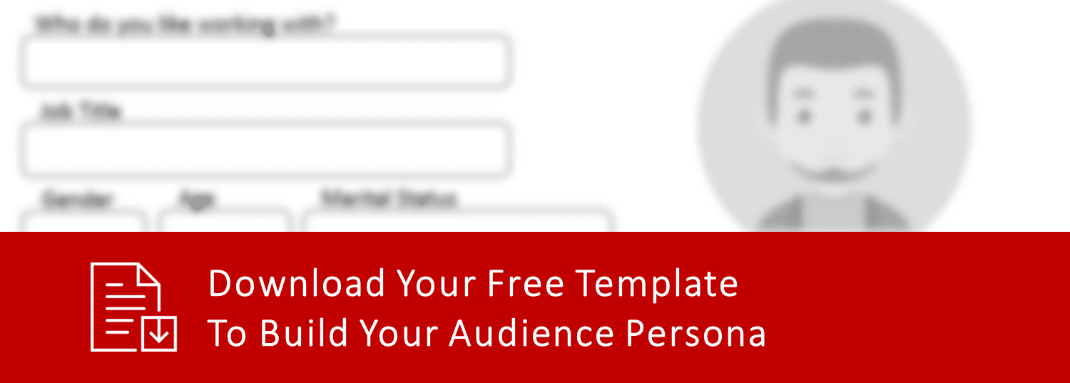 Audience Persona Template, marketing agency, marketing plan, marketing firm