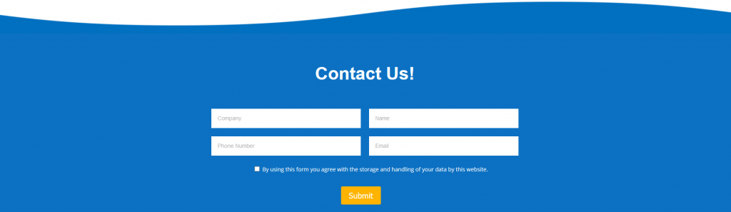 Contact Form Example for High Converting website