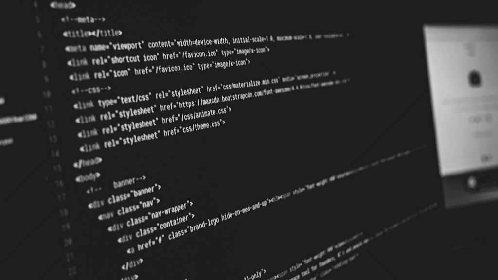 Image of HTML code